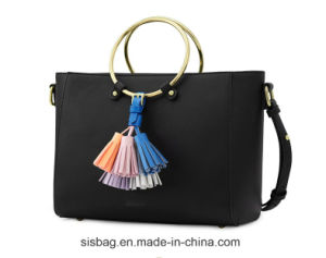 Hand Ring Tote Bag Personality Shoulder Bag with Tassel pictures & photos