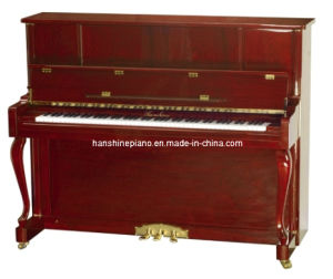 Chloris Mahogany Polish Curly Leg Upright Piano (HU-123M) pictures & photos