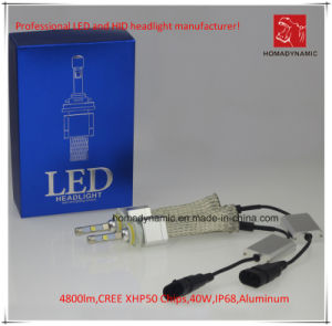 LED Car Light 9005 CREE Xhp50 Chip for Headlight 4800lm 6000k 40W pictures & photos