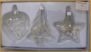 Hot Sales Glass Craft for Christmas Decoration (heart, tree, star) pictures & photos