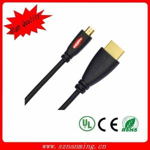 Support 3D HDMI to Micro HDMI Cable (NM-HDMI-061) pictures & photos