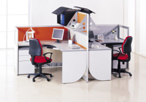 Modern Wood Office Workstation with Partiton Screen pictures & photos