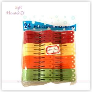 24PCS Plastic Clothes Hangers 4 Colors Assorted pictures & photos