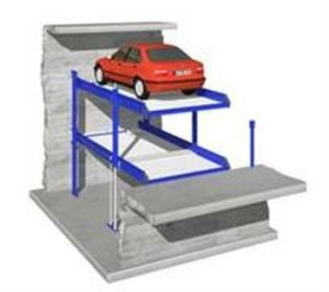 Hydraulic Parking Lift in Pit for Two Cars with Ce