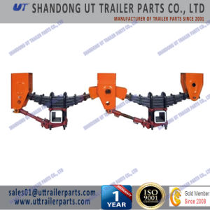 Fuwa Type Mechanical Suspension Two Axle / Tandem Overlung / Underslung with Leaf Spring pictures & photos