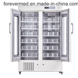 2-6 Degree Silent Hospital Digital Display Blood Bank Refrigerator pictures & photos