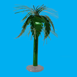Palm Tree Table Centerpiece of Foil (ST-3019)