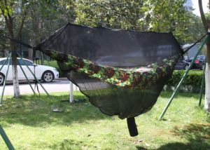 Portable Jungle Parachute Hammock with Mosquito Net pictures & photos