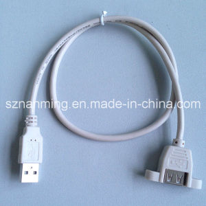Panel Mount USB Am-Af Cable for Screw Lock pictures & photos