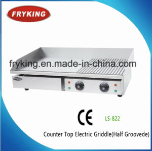 Stainless Body 1/3 Grooved Electric Teppanyaki Griddle for Restaurant pictures & photos
