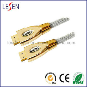 HDMI Cable Assembly, Metal Cover, 1080P, High Speed, 3D, with Ethernet pictures & photos