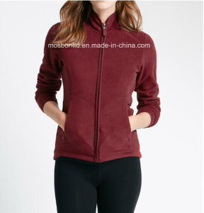 Slim Fit Zip up Polar Fleece Jacket for Women pictures & photos