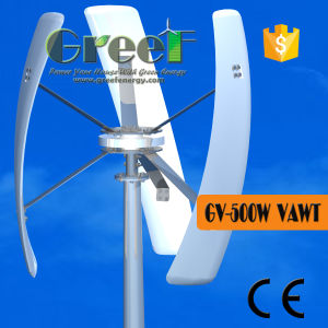 500W Low Speed Silent Residential Vertical Axis Wind Turbines pictures & photos