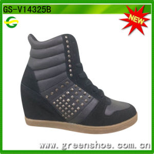 New Arrival Women Wedge Sneakers pictures & photos