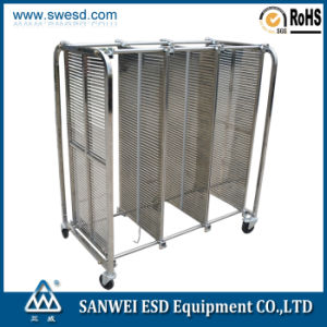 ESD Antistatic PCB Stainless Steel Trolley (3W-9806202) pictures & photos