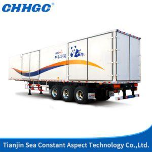 Economic 8X6 Tri Axles Van/Cargo Box Semi Trailer with Inside Locks pictures & photos