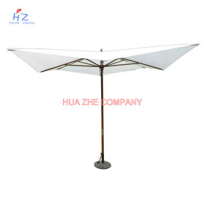 Hz-Um106 Wood Umbrella Wood Paraslo Outdoor Umbrella Beach Umbrella Garden Umbrella pictures & photos