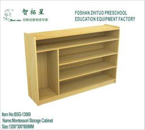 Kindergarten Montessori Blocks Storage Cabinet