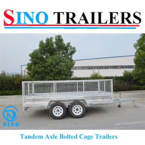 10X6 Hot Dipped Galvanised Dual Axle Box Trailer pictures & photos