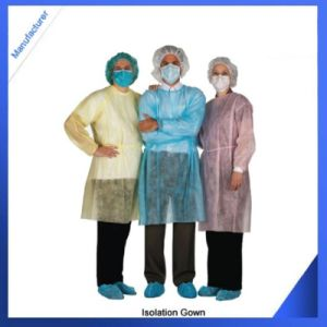 Sterile Isolation Gown Yello/Green, Tie-Back Disposable Isolation Gown pictures & photos
