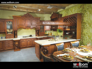 ISO Welbom American Style Classical Solid Wood Kitchen Furniture pictures & photos