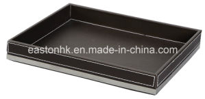 Superior Hotel PU Leather Amenities Tray Serving Tray pictures & photos