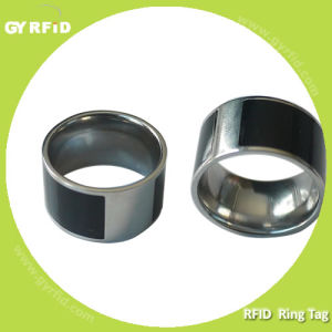 High Quality Nfc Ring Made with Titanium Steel Used for Business Cards (GYRFID) pictures & photos