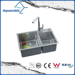 Double Bowl Stainless Steel Kitchen Sink Without Faucet (ACS6845A2) pictures & photos
