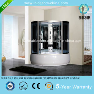 White ABS Tray Massage Shower Room Steam/Sauna Shower Cabin (BLS-9851) pictures & photos