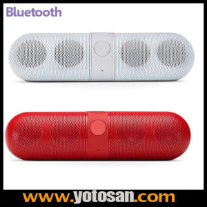 Audio Pill Capsule Shaped Lightweight Mini Bluetooth Wireless Portable Speaker with Internal Mic for Conference Calls pictures & photos