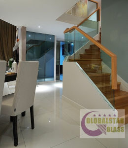 12mm Frameless Tempered Glass for Stair Balustrade with CCC, AS/NZS2008, CE pictures & photos