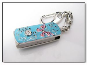 Swivel Jewelry USB Drive, Customized Packing Types/Logos Accepted, 64MB to 32GB Capacity pictures & photos