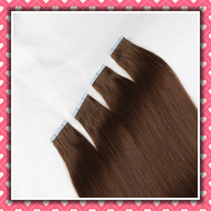Brown Color Remy Hair Extensions Tape Hair Straight 20inches pictures & photos
