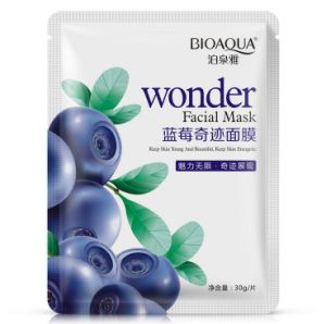 Bioaoua Wonder Facial Mask Keep Skin Young and Energetic Blueberry Herbal Skin Care Whitening Face Mask pictures & photos