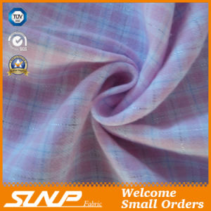2016 Cotton Yarn-Dyed Flannel with Sliver Lurex Fabric