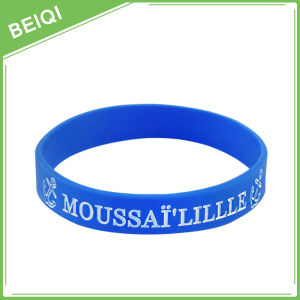 Promotional Gift Custom Debossed Colorfilled Silicone Wristband pictures & photos