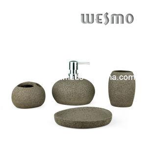 Dark Grey Polyresin Bathroom Set (WBP0237B) pictures & photos