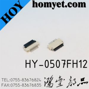 0.5mm Pitch 7pin FPC FFC Connector (HY-0507FH12) pictures & photos