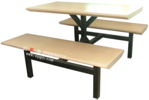 Canteen Table and Benches for School, Dining Table and Chair pictures & photos