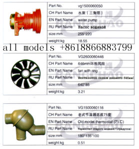 Sinotruck HOWO Truck Spare Parts Auto Accessory Fan with Ring pictures & photos