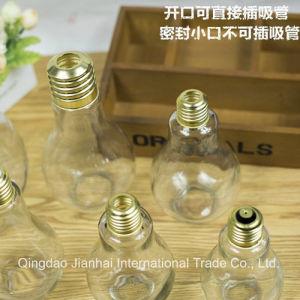 Home Decoration Six Capacity Bulb Shape Glass Bottle pictures & photos