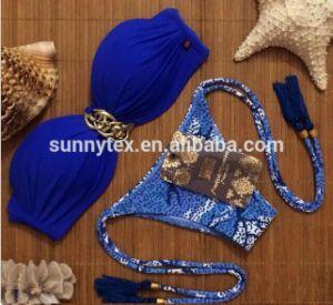 2017 Sexy Hot Lady Brazilian Beauty Custom Macrame Tassel Bikini pictures & photos