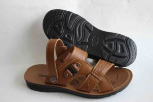 Good Quality of Men′s Leather Beach Sandal (SNB-14-016) pictures & photos