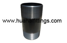 "Black Barrel Nipple /Pipe Nipple Sch40 NPT 11/4"" X11"" ANSI B1.20.1"