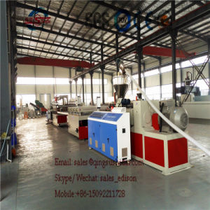 WPC Formwork Machinery 1220mm Plastic Foaming Formwork Sheet Making Machine/PVC Foaming Board Extrusion Line pictures & photos