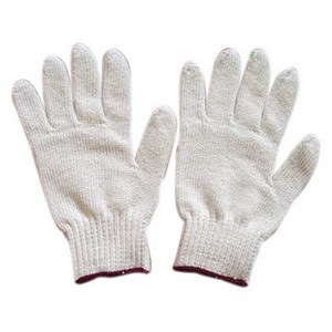 Unbleached Knit Cotton Safety Gloves for Work pictures & photos