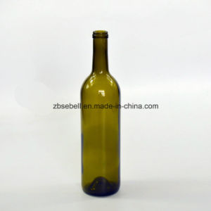 Wholesale 750ml Wine Glass Bottle in Antique Green Color (NA-002) pictures & photos