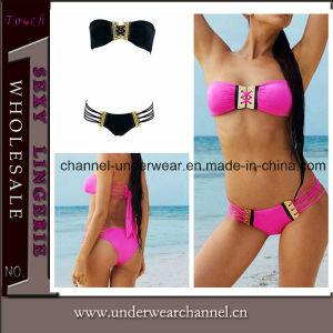 Newest Sexy Lady Bandeau Swimsuit Adult Swimwear Bikini pictures & photos