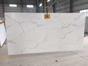 Hot Calacatta Marble Color Engineered Quartz Stone for Hotel Wall Decoration pictures & photos