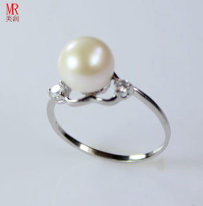 Heart Shape 925 Silver Sterling Silver Freshwater Pearl Ring (ER1606) pictures & photos